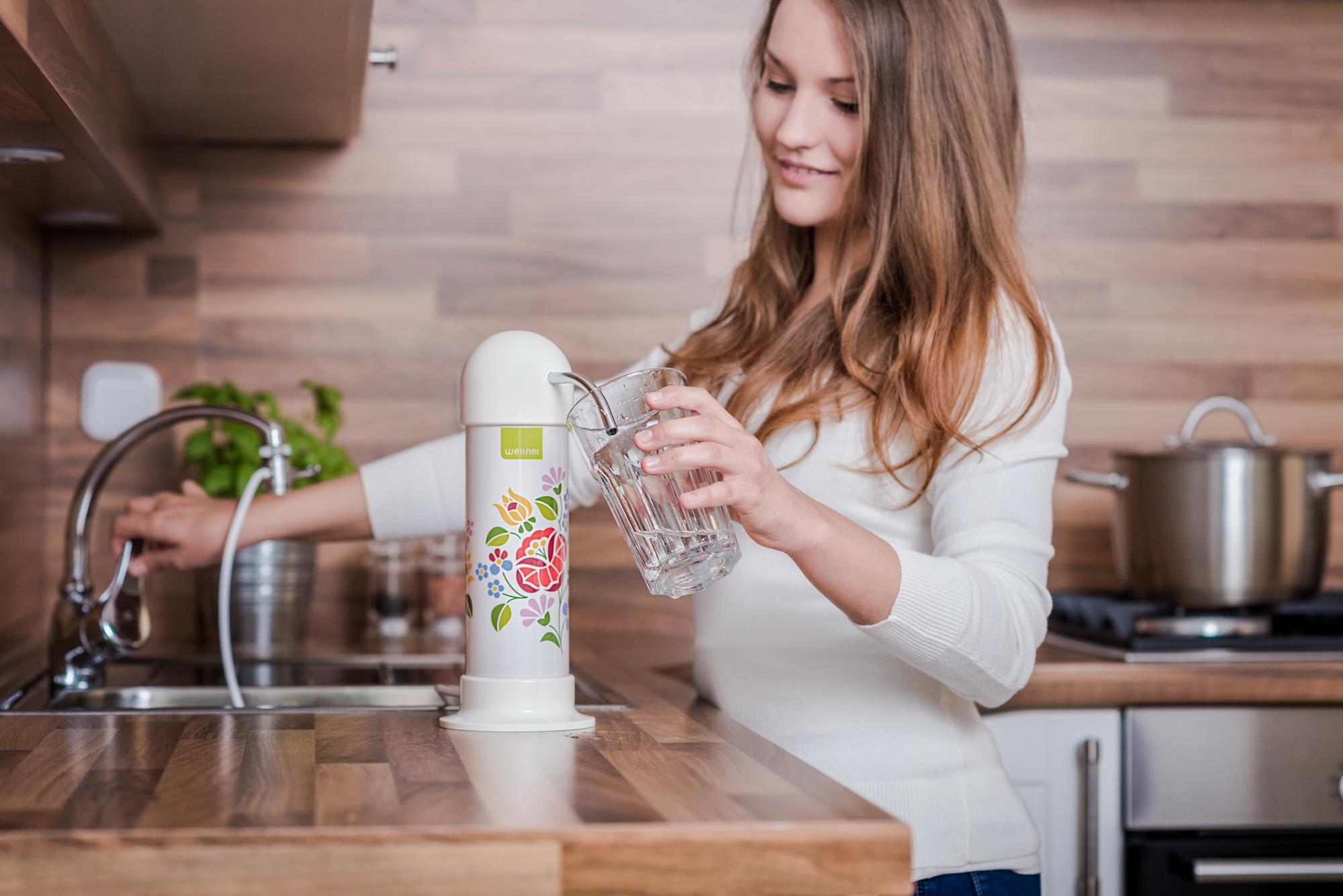 Wellnet asztali víztisztító