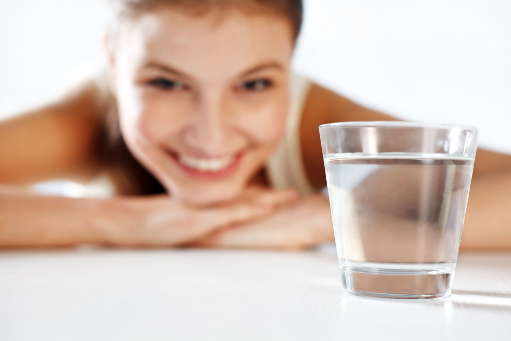 Beépíthető víztisztító - pohár víz