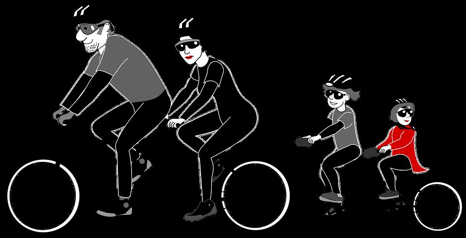 Családi biciklizés