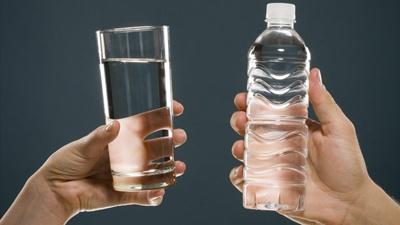 Tisztított víz palackozott víz helyett