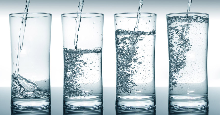 Vízszűrővel szűrt víz